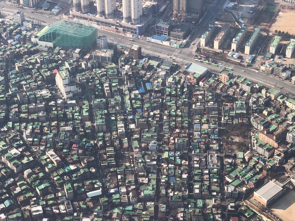 韓国の緑の屋根