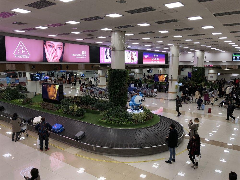 金浦空港のターンテーブル