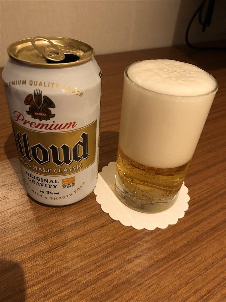 部屋でクラウドビール