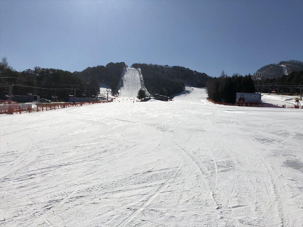 快晴のヨンピョン リゾート ドラゴン バレー スキー場1
