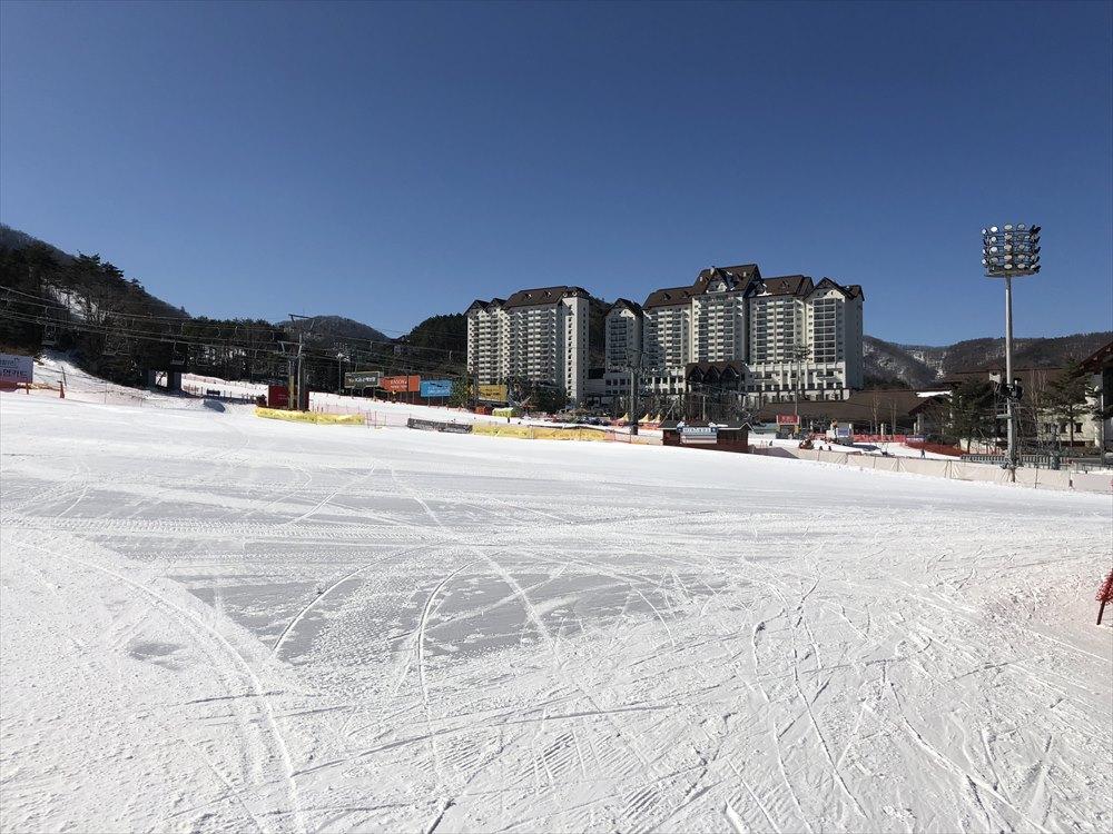 快晴のヨンピョン リゾート ドラゴン バレー スキー場2