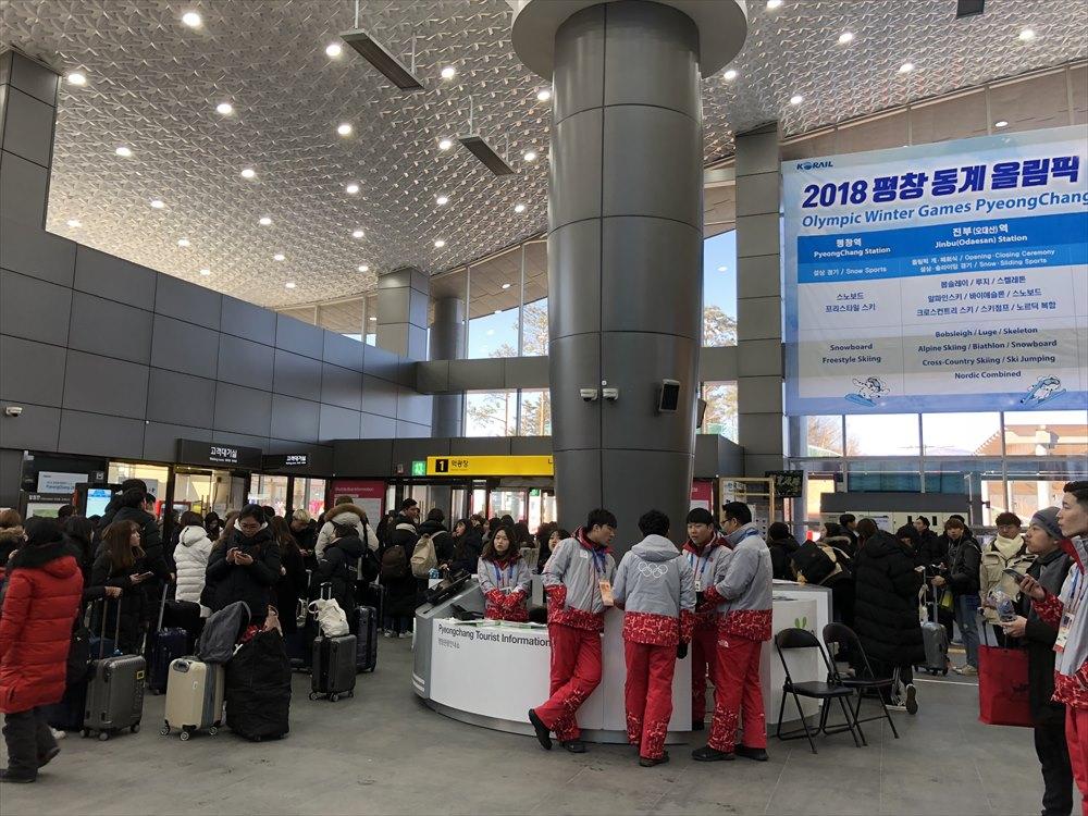 JINBU駅の混雑