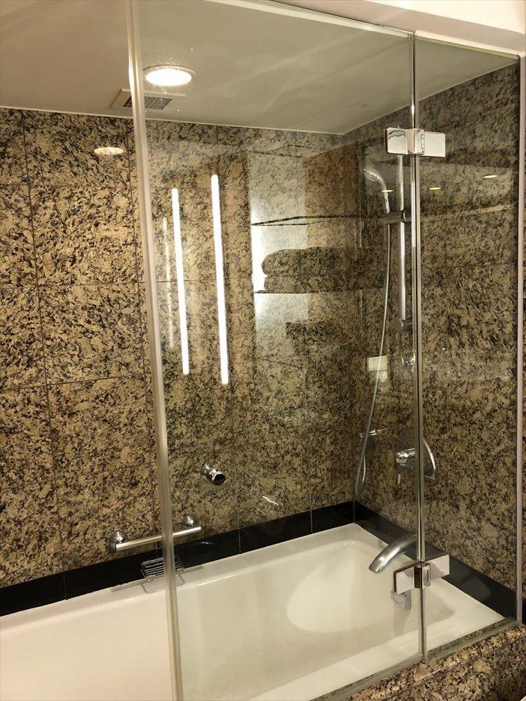 ウェスティン朝鮮ソウルのクラブルーム(シャワー)