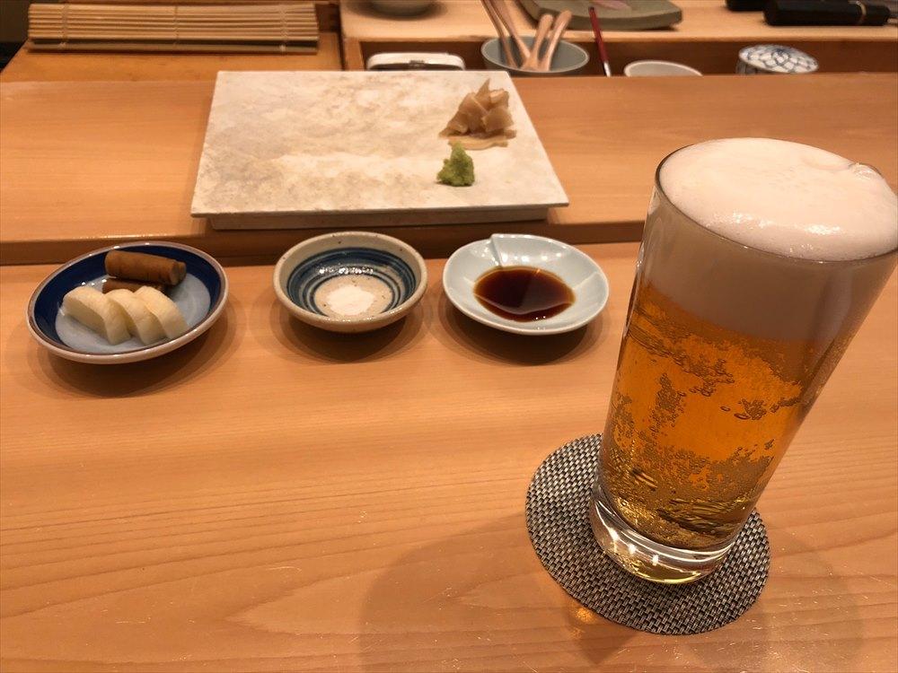 ウェスティン朝鮮ソウルのSUSHI CHOのビール