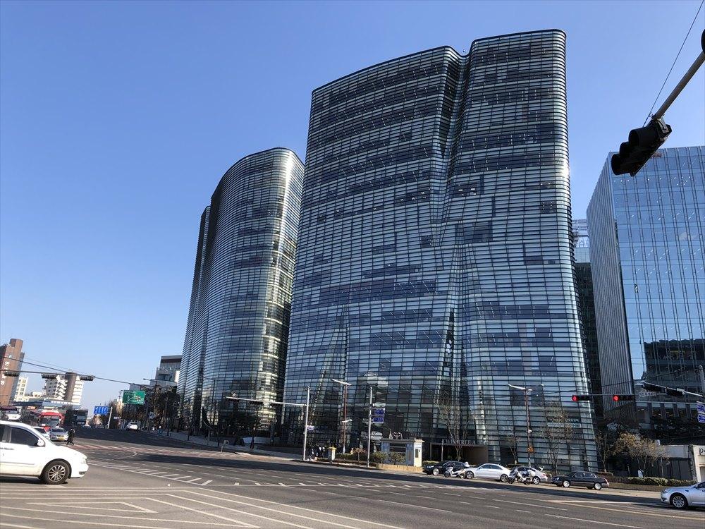 ソウルの日本大使館近く
