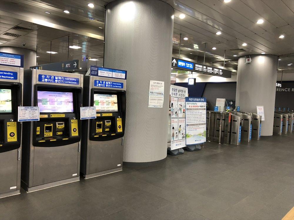 ソウル駅のAirport Railroadへの道3