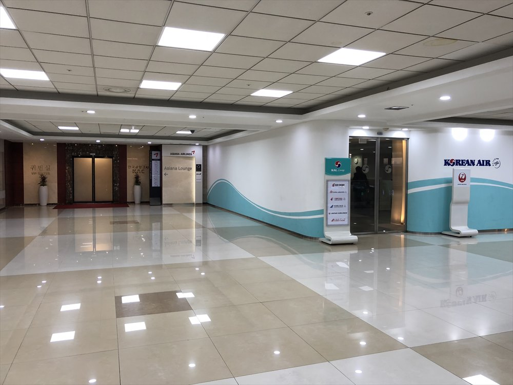 金浦空港の大韓航空ラウンジ1