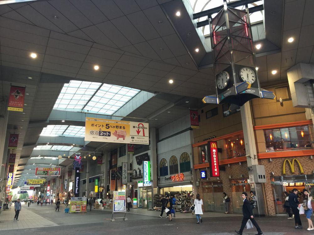 アーケード街にあるリッチモンドホテル熊本新市街画像