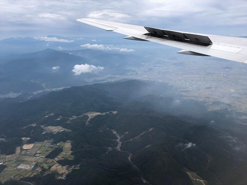 JAL115便から見た大阪平野の際1