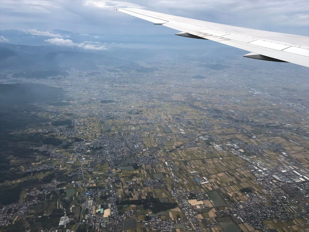 JAL115便から見た大阪平野の際2