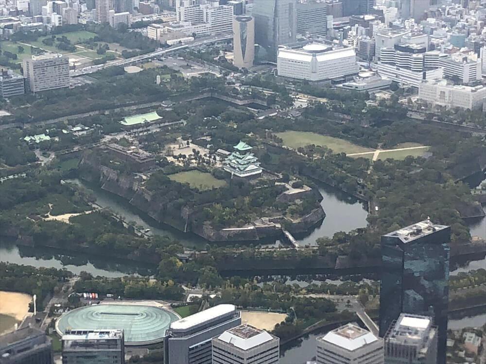 JAL115便から見た大阪城2