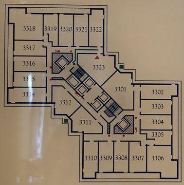 リッツカールトン大阪の3323号室の形
