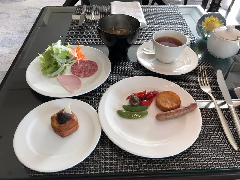 リッツカールトン大阪のクラブラウンジの朝食2
