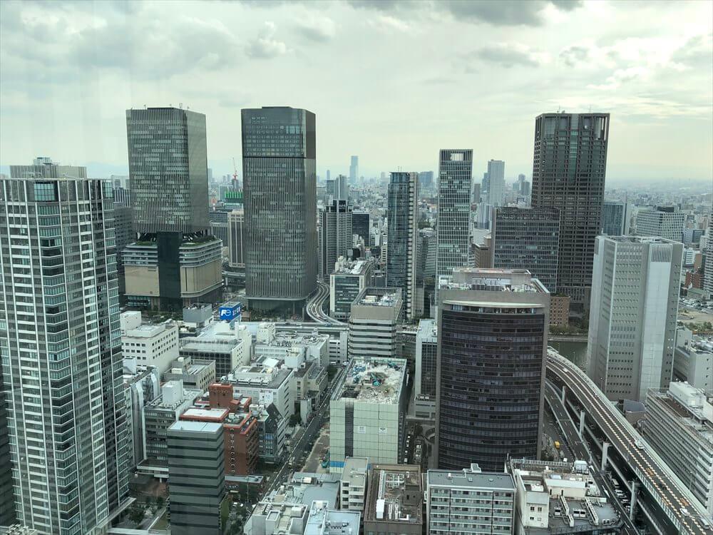 リッツカールトン大阪のクラブラウンジからの眺め1