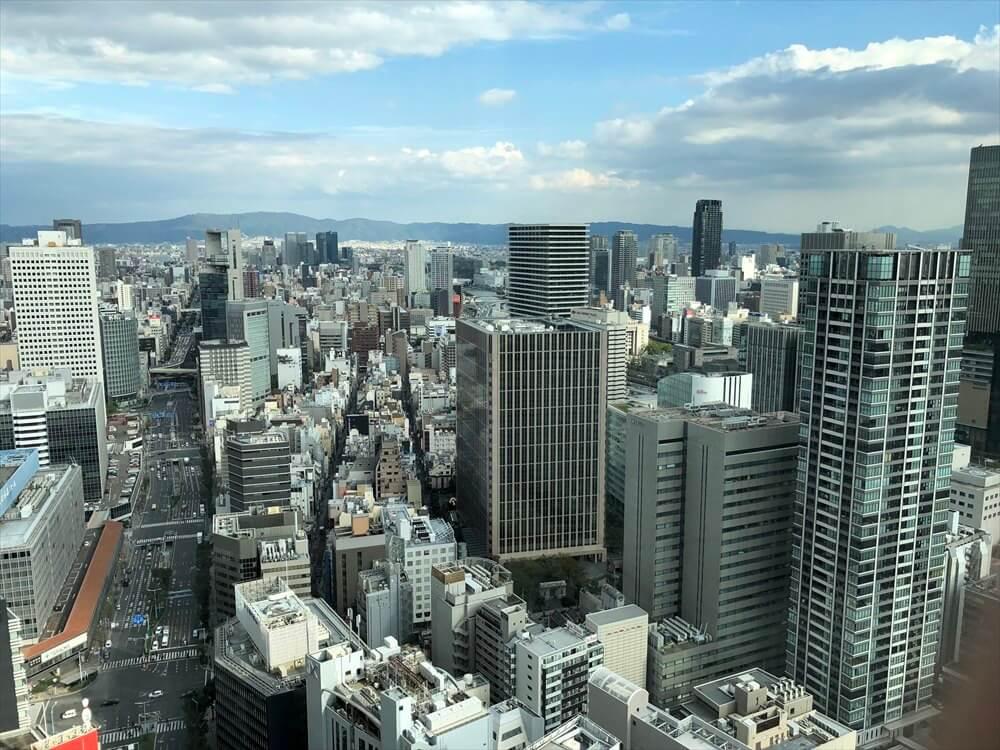 リッツカールトン大阪のクラブラウンジからの眺め2