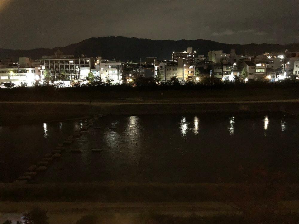 リッツカールトン京都のラグジュアリーからの眺め(夜)