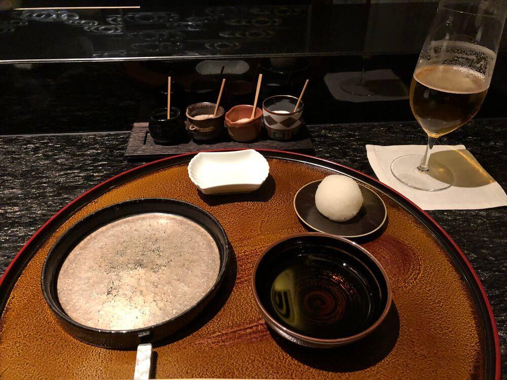 リッツカールトン京都の水暉の天ぷらの塩