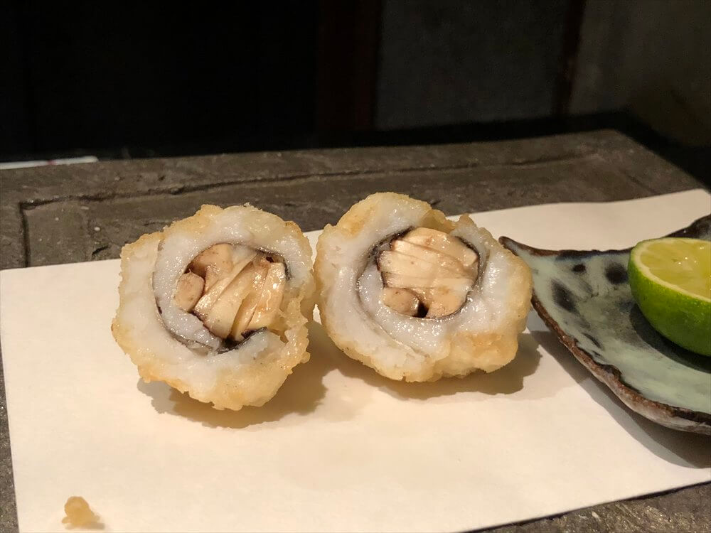 リッツカールトン京都の水暉の松茸の鱧巻き