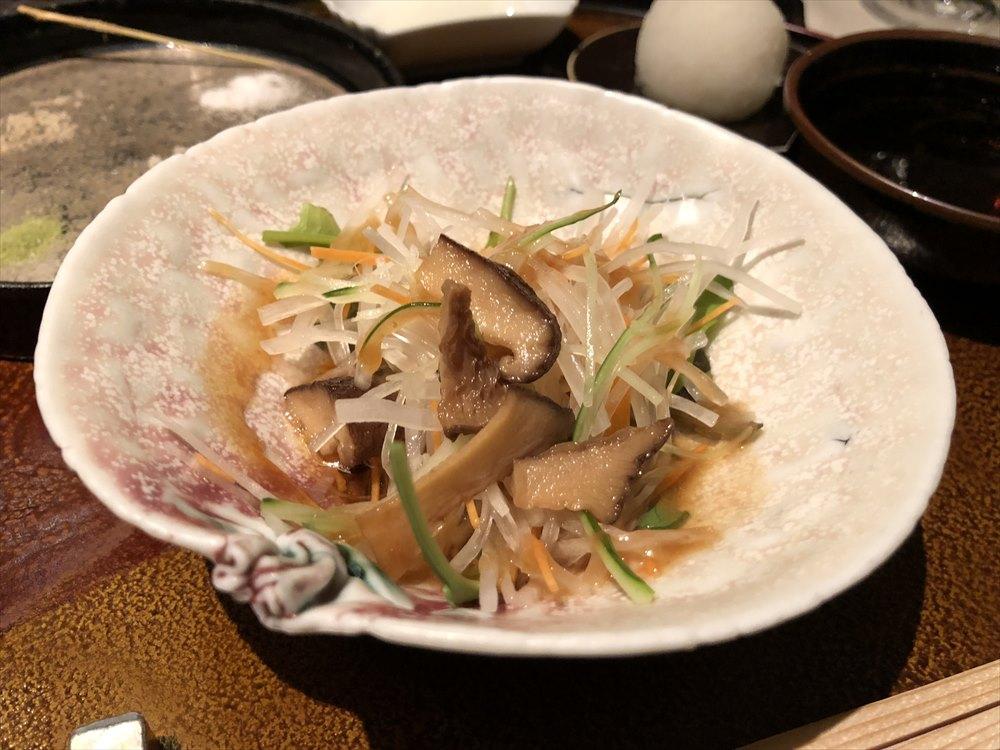 リッツカールトン京都の水暉の口直しのサラダ