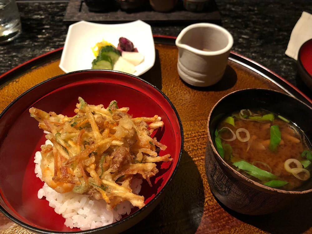 リッツカールトン京都の水暉のかき揚げ丼