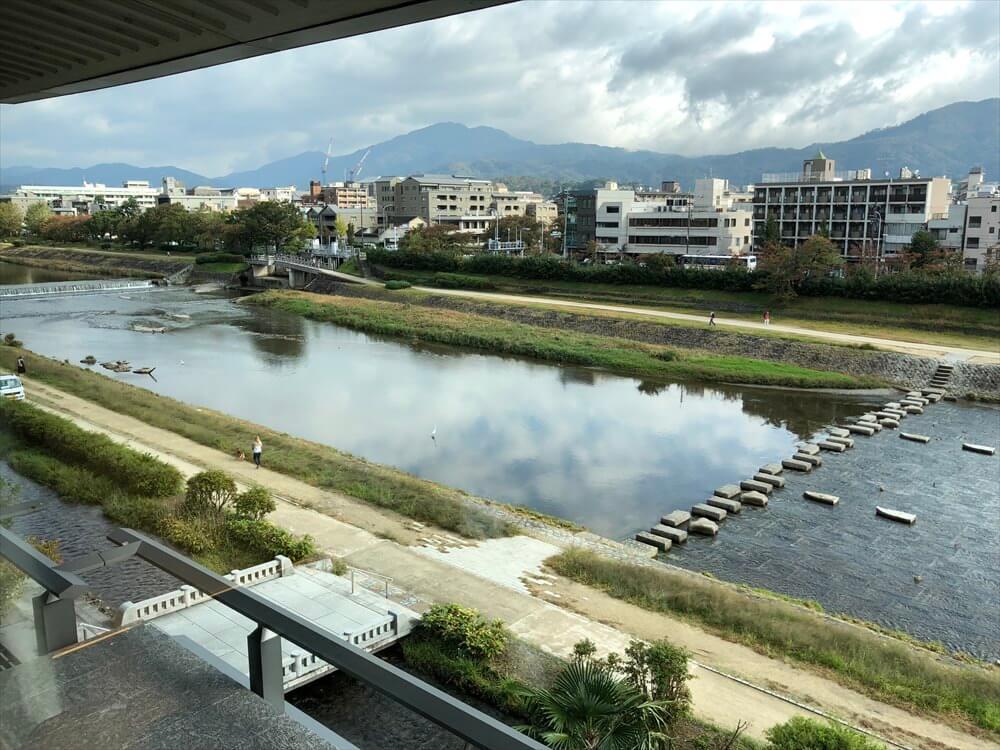 リッツカールトン京都からの鴨川の眺め