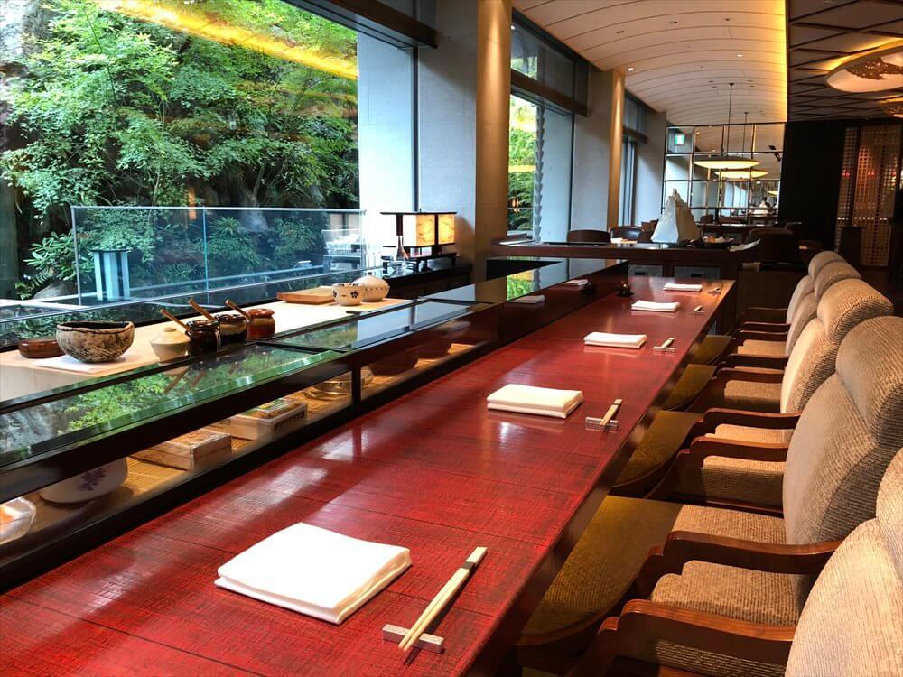 リッツカールトン京都の「水暉」での和朝食1
