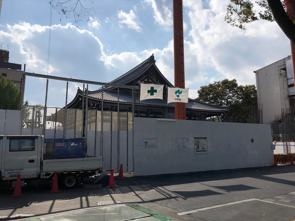 ホテル本能寺が新築工事中
