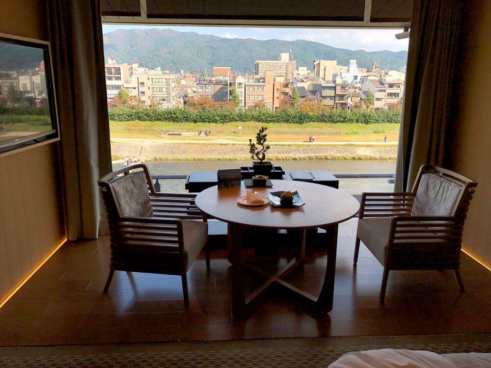 リッツカールトン京都の部屋からの眺め