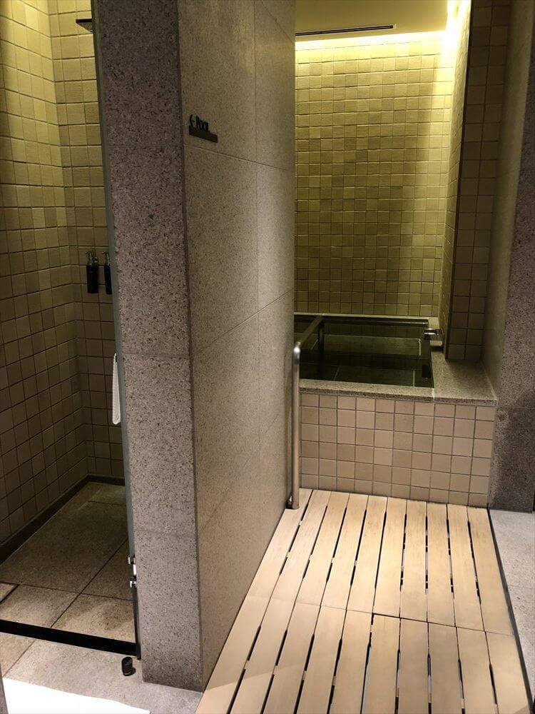 リッツカールトン京都のフィットネスセンターの更衣室4