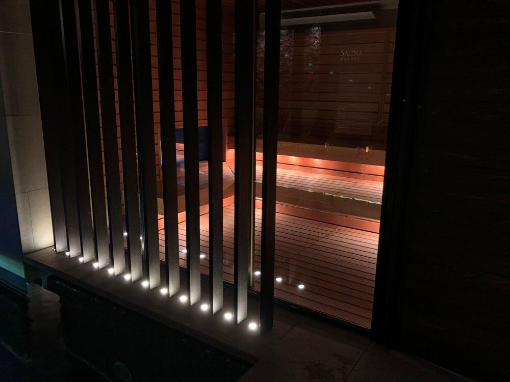 リッツカールトン京都のフィットネスセンターのドライサウナ