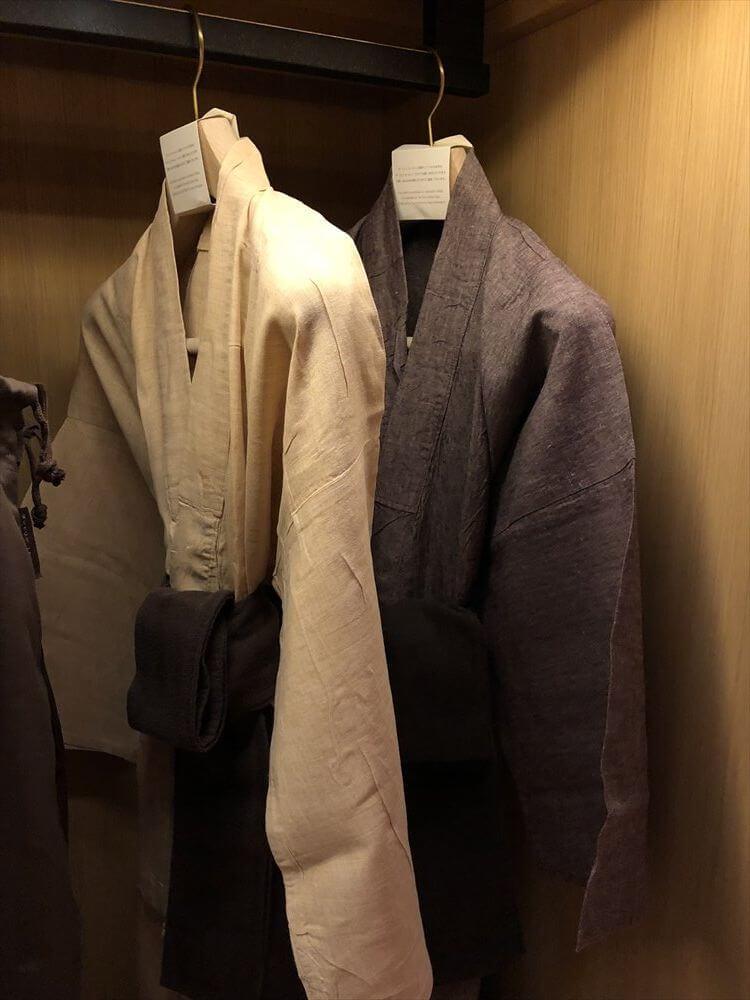 リッツカールトン京都のラグジュアリールームの浴衣