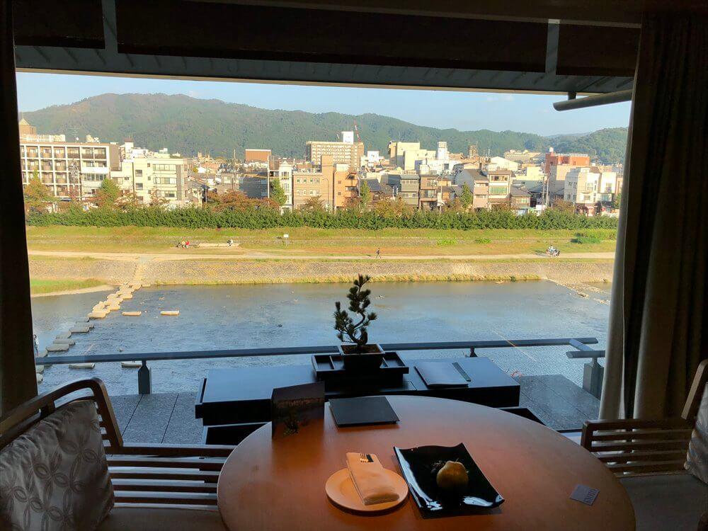 リッツカールトン京都のラグジュアリーからの眺め1