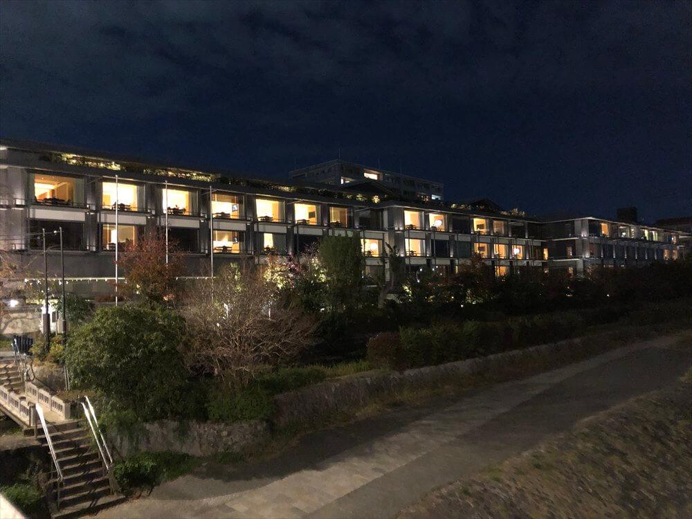 リッツカールトン京都の灯り