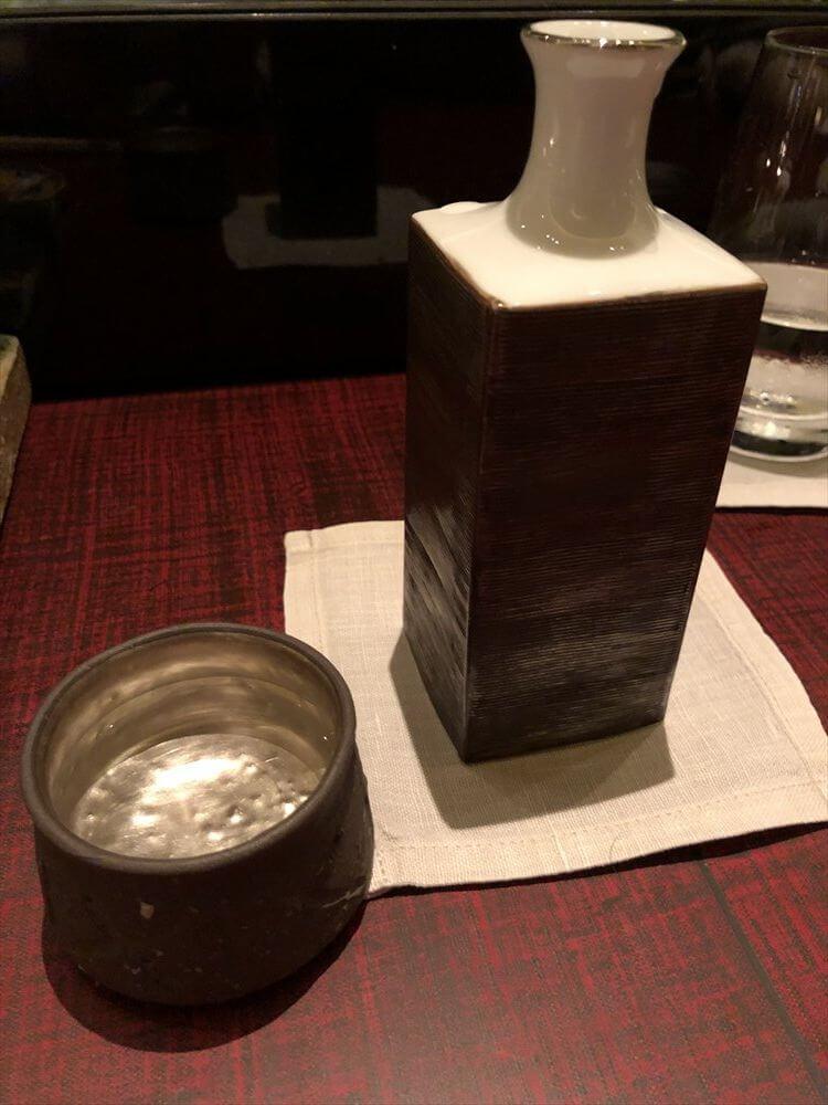 リッツカールトン京都の「水暉」の九頭龍の大吟醸
