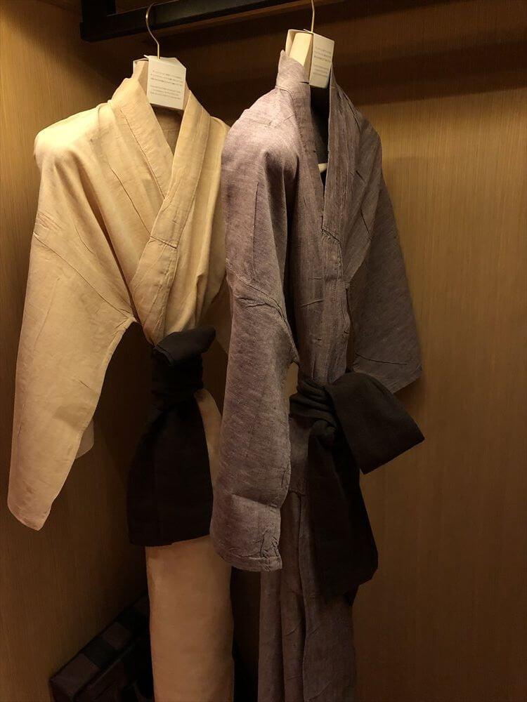 リッツカールトン京都の麻の寝間着