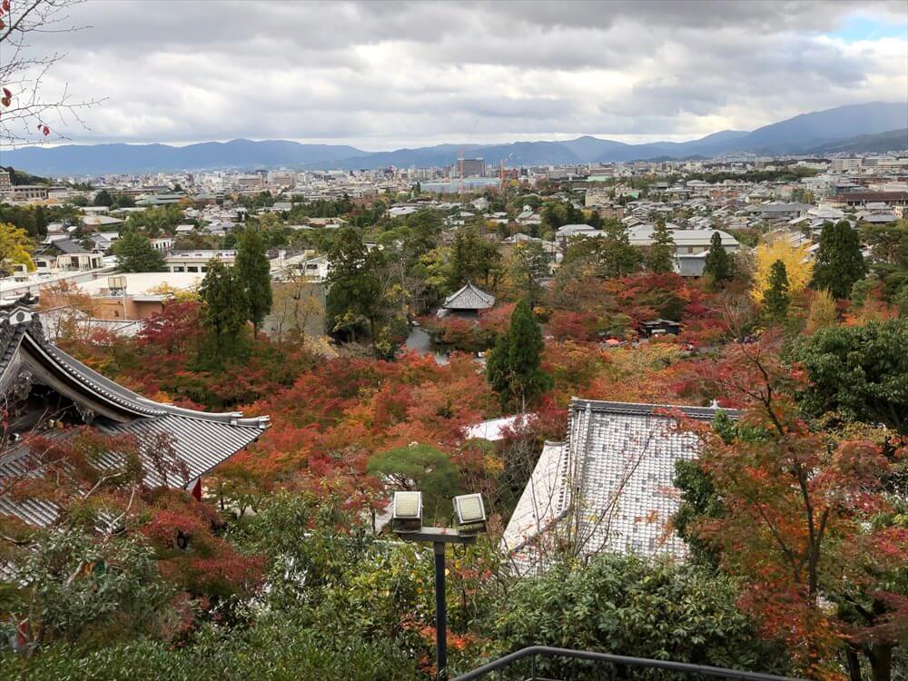 永観堂の多宝塔から京都市内一望1