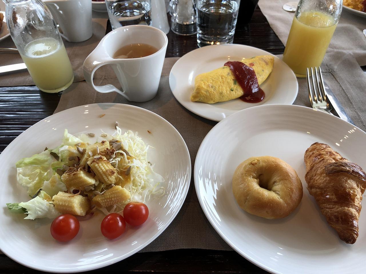 リッツカールトン沖縄の朝食(1日目)