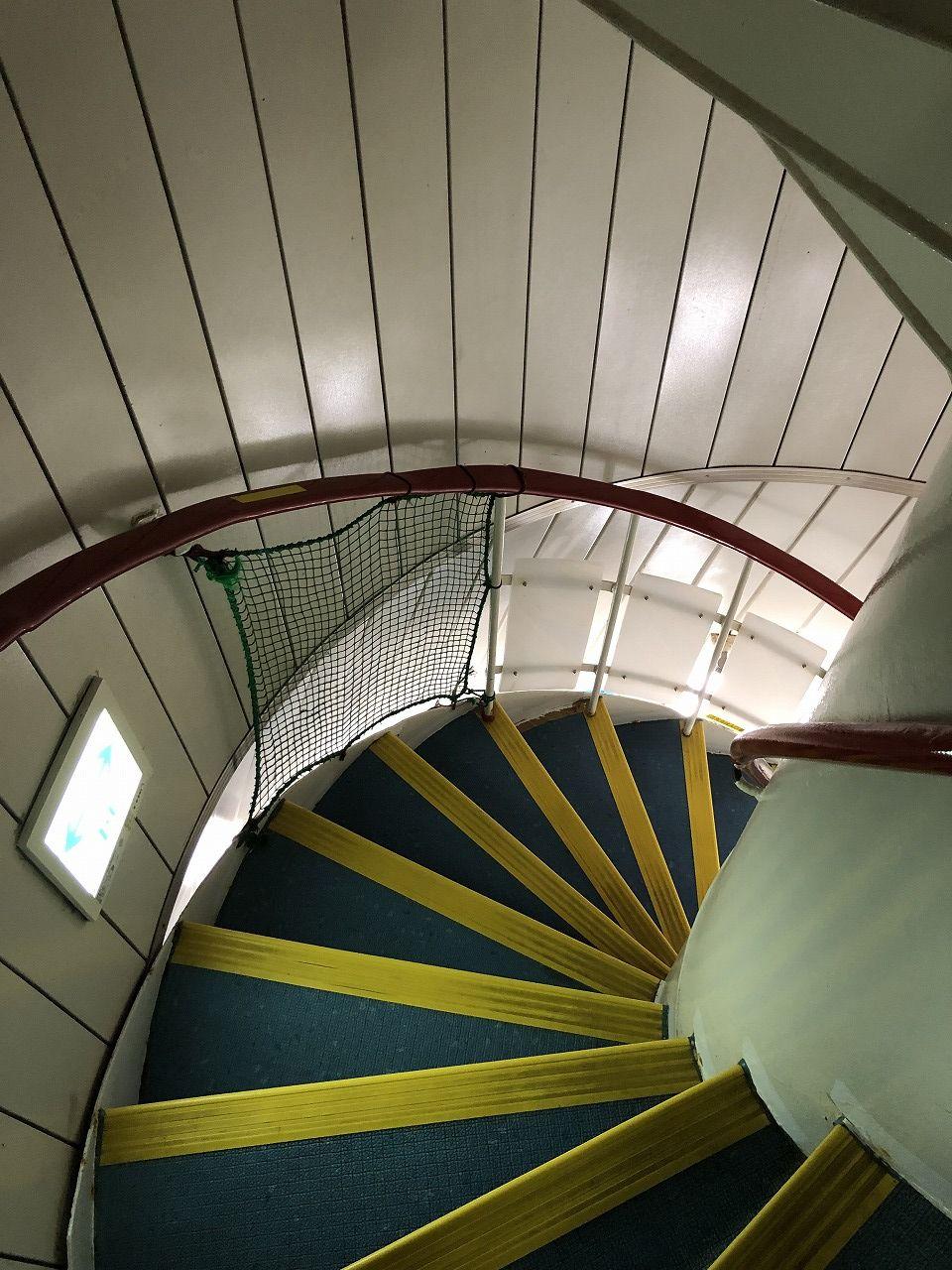 海中展望塔の螺旋階段
