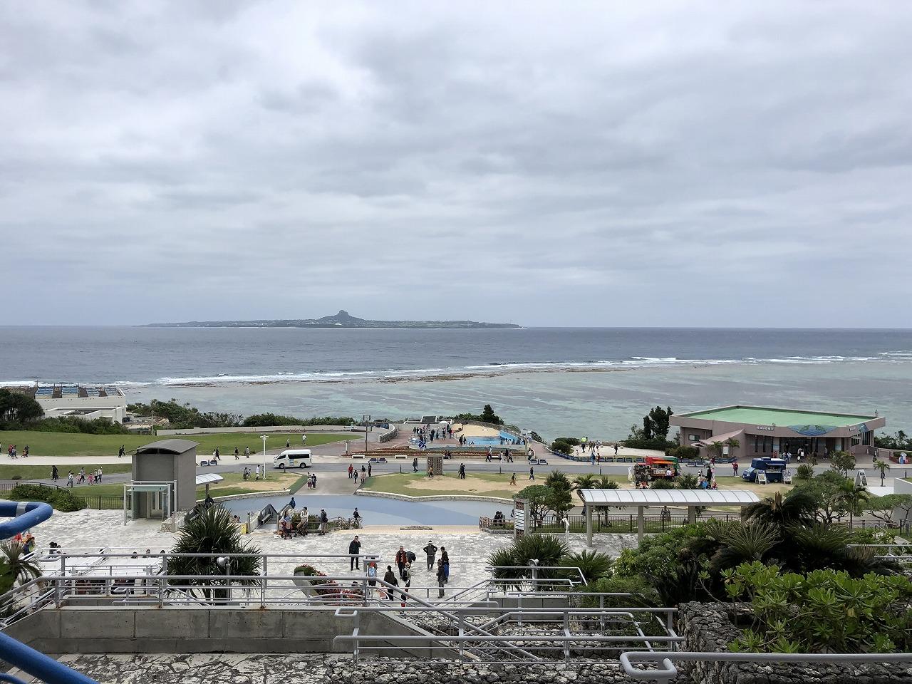 美ら海水族館から見える伊江島2