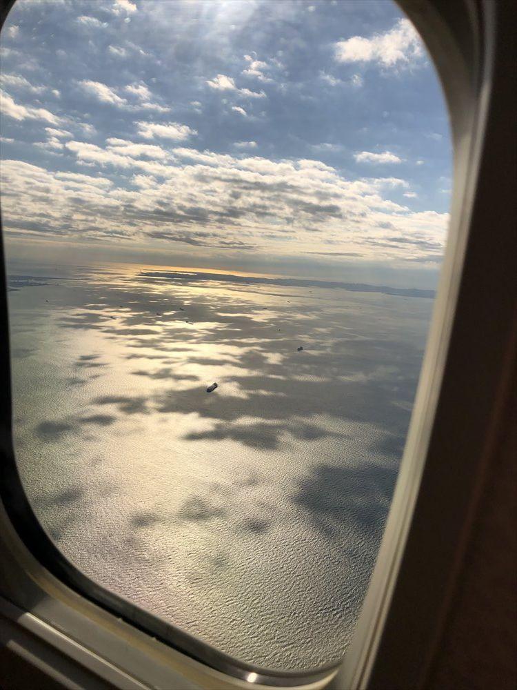 ANA453便からの東京湾上空
