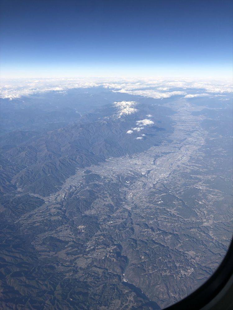 ANA453便からの伊那谷