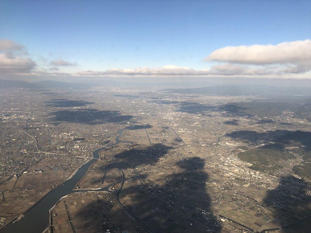 ANAの453便から佐賀平野2
