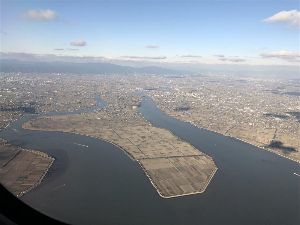 ANAの453便から筑後川