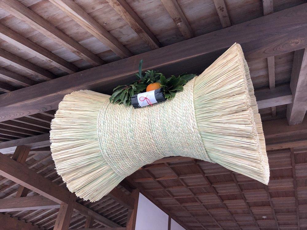 佐賀城本丸歴史館の鼓の胴の松飾り