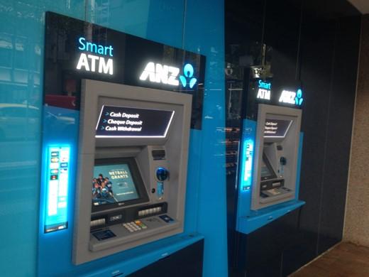 オーストラリア・ニュージーランド銀行(ANZ)のATM
