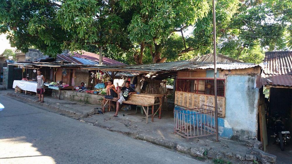 フィリピンのバコロドの露天