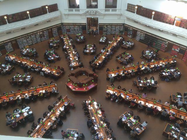 メルボルンのビクトリア州立図書館2