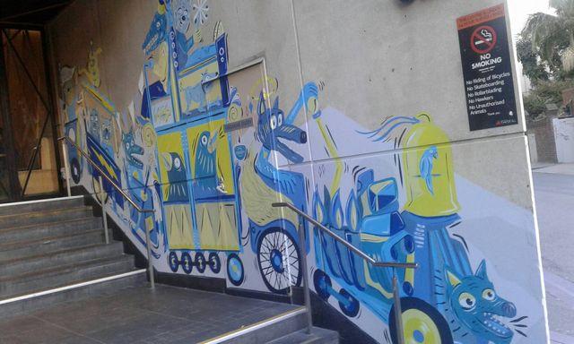 メルボルンの街中のアート2