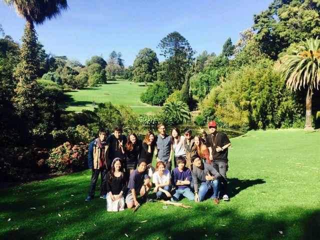 メルボルンのロイヤル植物園で記念撮影