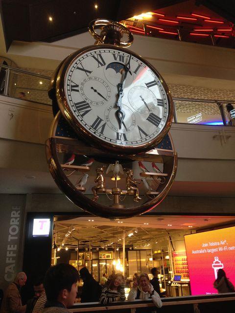 メルボルン・セントラル・ステーションの待ち合わせの時計
